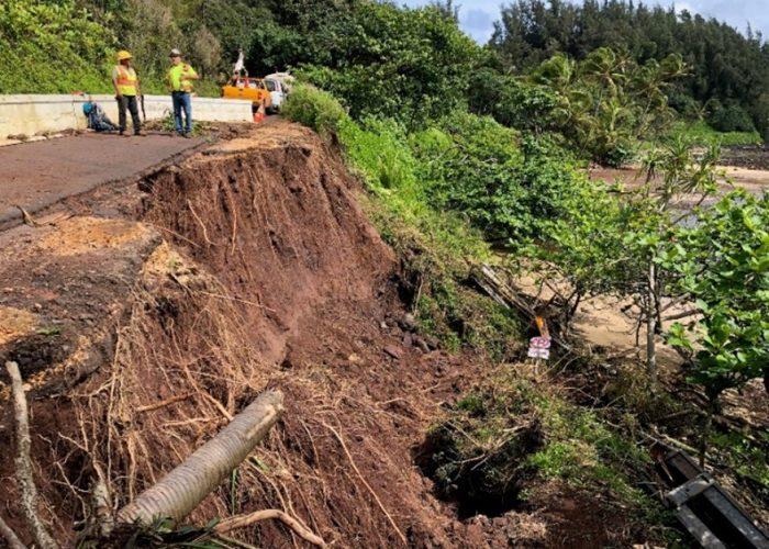 Kuhio Highway, Emergency Road Repair at Wainiha, Hanalei, HI